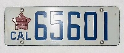 $ CDN366.68 • Buy 1916-1919 California Porcelain License Plate W/ Matching Star