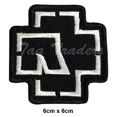 £2.29 • Buy RAMMSTEIN WHITE Embroidered Iron On Sew On Patch Heavy Rock Band