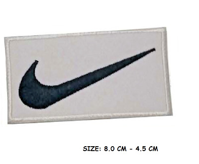 NIKE LOGO FLAG  Embroidered Iron On Sew On Patches Badges BLACK • 1.99£