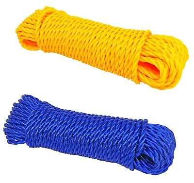 50ft Strong Nylon Rope Washing Clothes Line Bright Colored Garden Camping • 4.95£