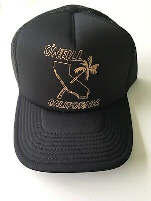 $24.99 • Buy New Men's O'Neill Surf California Beach Skater Hat Trucker Cap Snap Back Black