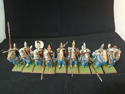 Warhammer Fantasy High Elf Silver Helms Cavalry Plastic Painted  • 29.99£