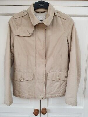 Vintage Burberry Lightly Padded Jacket Coat, Stone, Country Chic, Size 10 • 19.99£