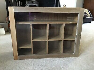 Antique Pine Wall Or Free Standing Display Cabinet • 69£