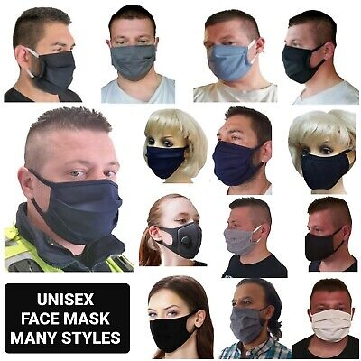 Unisex Cotton Face Mask Mouth Cover Washable Reusable Adult Cloth Dust Mask Lot • 3.99£