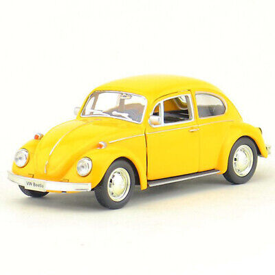 VW Beetle 1967 1:36 Model Car Diecast Gift Toy Vehicle Kids Collection Yellow • 11.90£