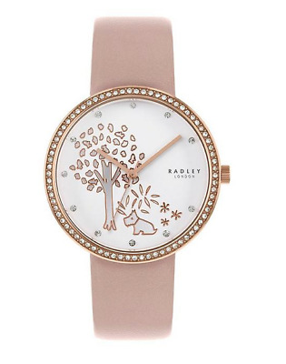 $98.76 • Buy Radley Epping Forest Stone Set Rose Gold Woodland Dial Watch Mink Leather Strap