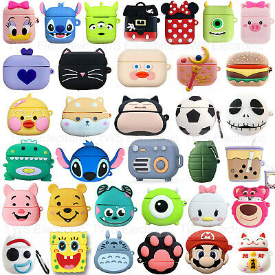 AU7.98 • Buy 3D Cartoon Earphone Cover For Apple Airpods Pro 3 2 1 Charging Case Holder Bag