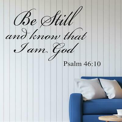 Bible Verse DIY Wall Decal  Christian Quote Stickers Home Room Art Decoration • 3.73£