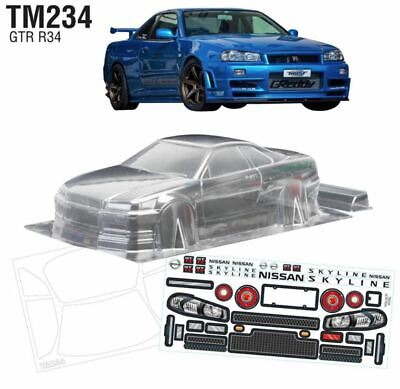 ###########1/10 Nissan Gtr R34 210mm Car Shell########### • 56.14£