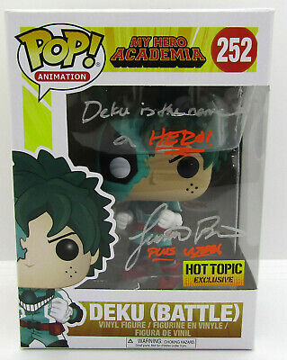 $87.99 • Buy Funko POP 2017 Deku Battle #252 Signed By Justin Briner No COA W/ POP Protector