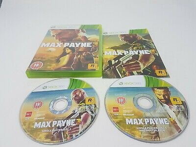 XBOX 360 ROCKSTAR MAX PAYNE 3 III PAL 2 Discs Complete With Manual Vgc • 3.99£