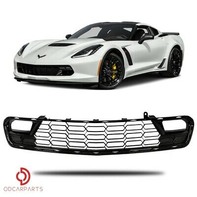 $99 • Buy Fits Chevy Corvette C7 2014-2019 Front Bumper Lower Grille Without Camera Black