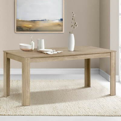 AU178.90 • Buy Artiss Dining Table 6-8 Seater Wooden Kitchen Tables Oak 160cm Cafe Restaurant