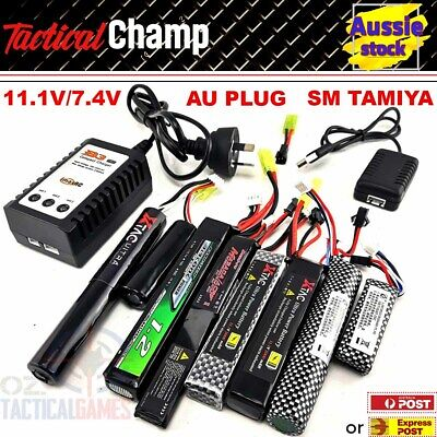 AU15.30 • Buy 11.1v/7.4v Lipo Battery Gel Blaster Tamiya Adaptor USB B3 Charger For Gen 8 9 10