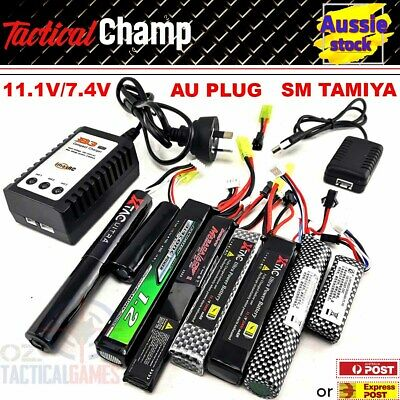 AU22.74 • Buy 11.1v/7.4v Lipo Battery Gel Blaster Tamiya SM Adaptor USB B3 Charger For J8 9 10