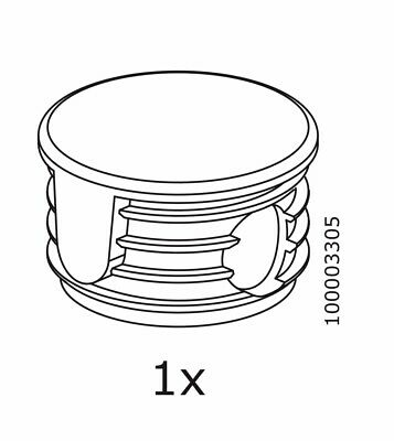£7.19 • Buy (1) X IKEA # 10003305 Bunk Bed Frame Tube Cap Cover Plastic Replacement Part