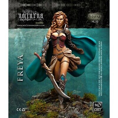 Nocturna Heroes Freya 54mm Unpainted Resin Figure Kit • 23.99£