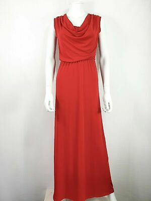 £30 • Buy WAL G Red Evening Dress Sz S Small Long Party Formal  Cowl Neck
