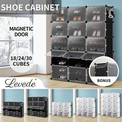 AU59.99 • Buy Cube Cabinet Shoe Storage Cabinet Organiser Rack Shelf Stackable DIY 6/8/10 Tier