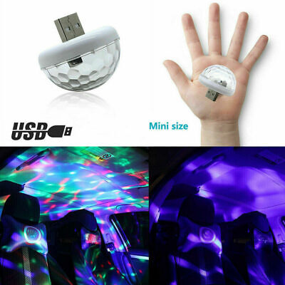 $1.68 • Buy LED Car-Interior Atmosphere Colorful Light-USB Charge Decor Lamp Accessories