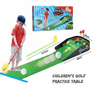 Mini Golf Practice Set Kids Fun Toy With Indoor Putting Game Sounds Club Ball • 28.99£