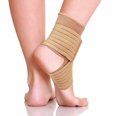 Ankle Support Compression Strap Weak Ankles Sports Injury Pain Sprains Wrap UK • 3.99£