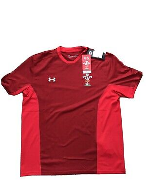 Under Armour WRU Wales Rugby Training Tee Shirt Adults Large • 22.99£