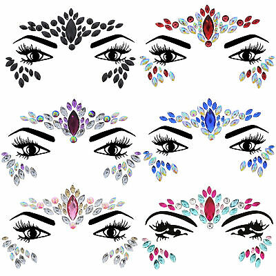 £11.69 • Buy Zac's Alter Ego Pack Of 6 Crystal Face Gems/ Jewels - Summer Festival Body Art