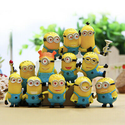 £10.99 • Buy 12 Pcs Mini Minions 1.5in Action Figures Doll Toy Gift Party Cake Topper Gift
