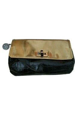 Lanvin Leather Clutch Bag Black Bronze Designer Evening Rrp £1090 • 190£