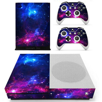 $13.20 • Buy Galaxy Starry Sky Skins Set  For Xbox One S Slim (XB1-S) Console Remote Control