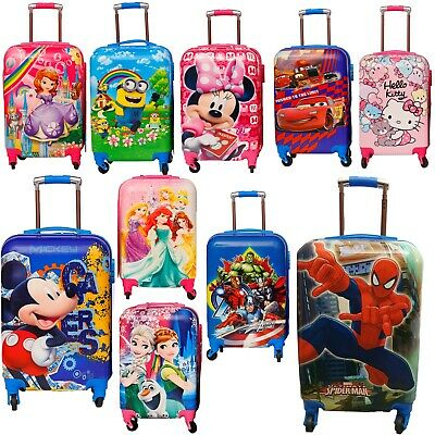 Children Kids Holiday Travel Hard Shell Suitcase Luggage Trolley Bags UK STOCK • 34.99£