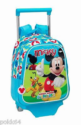 £66.13 • Buy Mickey Mouse Schoolbag To Rollers Disney Trolley M Bag Back 34 CM Maternal 8712