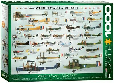 Eurographics World War I Aircraft 1000 Pc Jigsaw Over 30 Different Planes NEW  • 14.50£