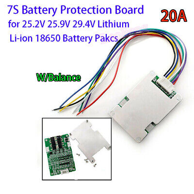 AU10.05 • Buy 7S 29.4V 15A BMS Protection Board W/ Balance For Li-ion Lithium Battery