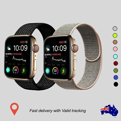 AU9.99 • Buy Nylon Loop Strap For Apple Watch Band Series 6 SE 5 4 3 2 1 Sport IWatch 40 44mm