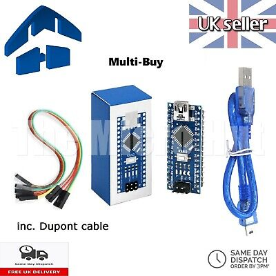 £3.55 • Buy Retail Boxed Arduino Nano V3 Compatible ATMEGA328P 328 CH340G SOLDERED - TESTED