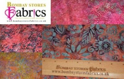 Bali Batik 100% Cotton, 44  Inch, Leaves/Flowers Prints, Excellent Quality. • 8.69£