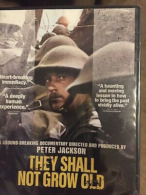 $12 • Buy THEY SHALL NOT GROW OLD (WW1 Documentary),Peter Jackson, New DVD ,Free Shipping