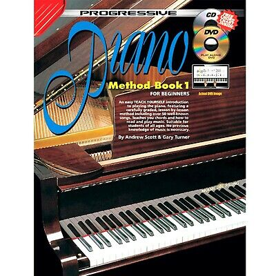 Digital Piano - Electric Piano - Keyboard Beginners Piano Method Book With CD H8 • 16.56£