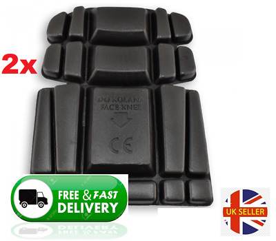 2 X Knee Inserts Foam Pads Protectors | Safety Work Trousers Kneepad Protection • 3.98£