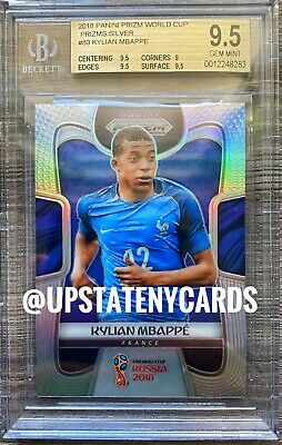 $ CDN6289.53 • Buy 2018 PANINI PRIZM WORLD CUP KYLIAN MBAPPE SILVER BGS 9.5 GEM MINT UpstateNYcards