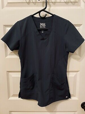 $3.99 • Buy Barco One Scrub Top XS Steel Color