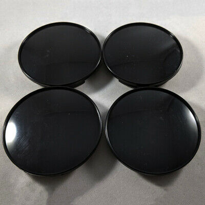 $ CDN6.12 • Buy 4X 68mm Universal ABS Car Wheel Center Hub Caps Covers Set No Emblem Black Parts