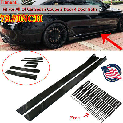 $ CDN74.89 • Buy 78.7'' Car Side Skirt Body Kit Extension Splitter Diffuser Panel Lip Gloss Black