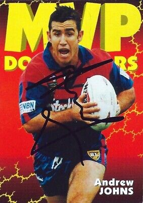 AU49.99 • Buy ✺Signed✺ 1997 NEWCASTLE KNIGHTS NRL Premiers Card ANDREW JOHNS