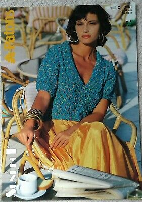 Patons Ladies Cropped  Top Knitting Pattern Size 30  - 38   3341  • 2£