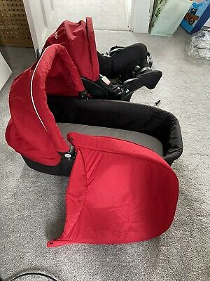 Graco Evo Carrycot & Car Seat Baby 0-6m Black & Red ~Works With Travel System • 37£