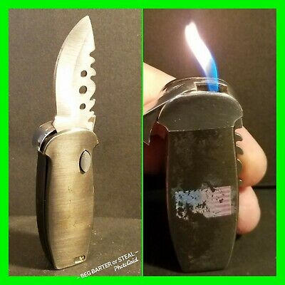 $ CDN34.01 • Buy Unique Vintage Rare Automatic Lighter Knife Combo ~ In Working Condition